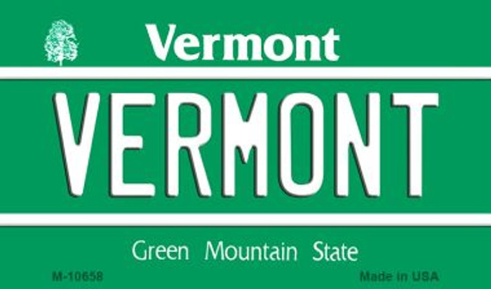 Vermont State License Plate Novelty Magnet M-10658
