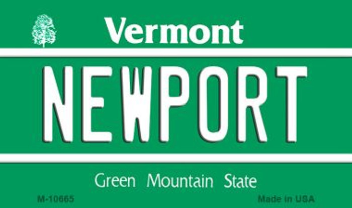 Newport Vermont State License Plate Novelty Magnet M-10665