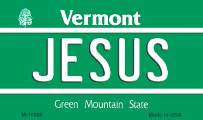 Jesus Vermont State License Plate Novelty Magnet M-10680