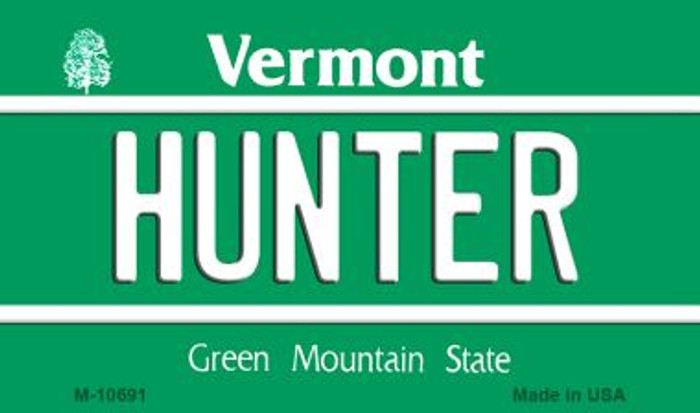 Hunter Vermont State License Plate Novelty Magnet M-10691