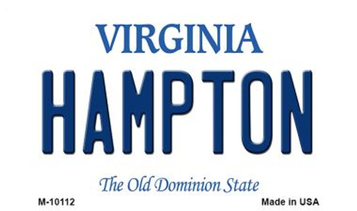 Hampton Virginia State License Plate Magnet M-10112
