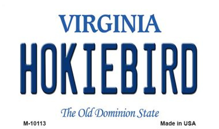 Hokiebird Virginia State License Plate Magnet M-10113