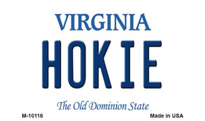 Hokie Virginia State License Plate Magnet M-10116