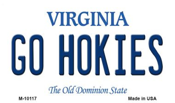 Go Hokies Virginia State License Plate Magnet M-10117