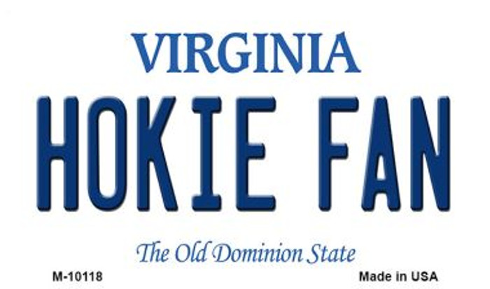 Hokie Fan Virginia State License Plate Magnet M-10118