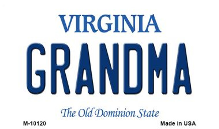Grandma Virginia State License Plate Magnet M-10120