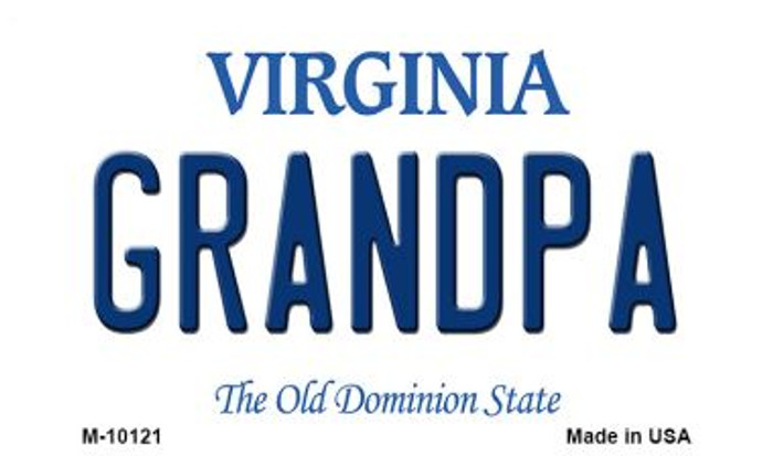 Grandpa Virginia State License Plate Magnet M-10121