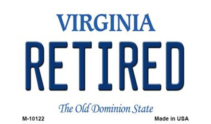Retired Virginia State License Plate Magnet M-10122