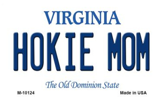 Hokie Mom Virginia State License Plate Magnet M-10124