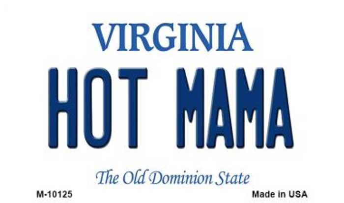 Hot Mama Virginia State License Plate Magnet M-10125