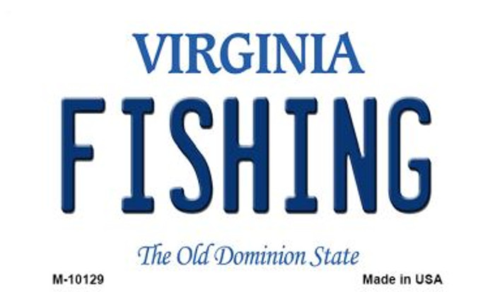 Fishing Virginia State License Plate Magnet M-10129