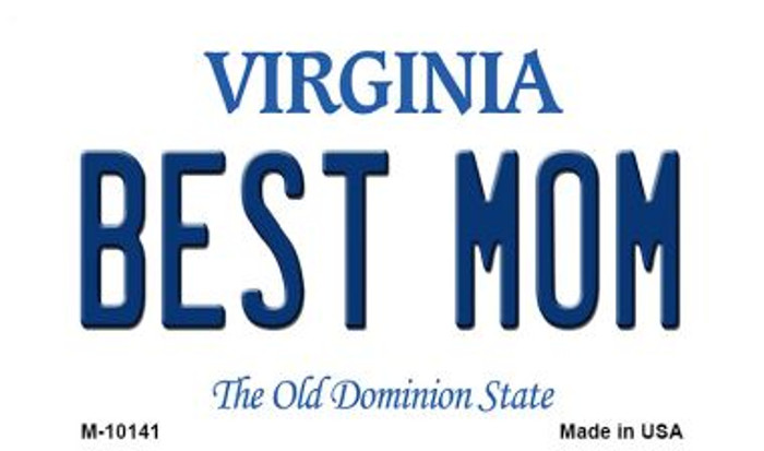Best Mom Virginia State License Plate Magnet M-10141