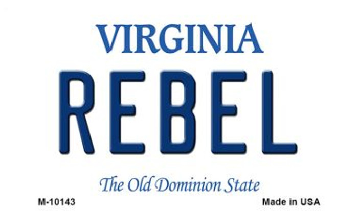 Rebel Virginia State License Plate Magnet M-10143
