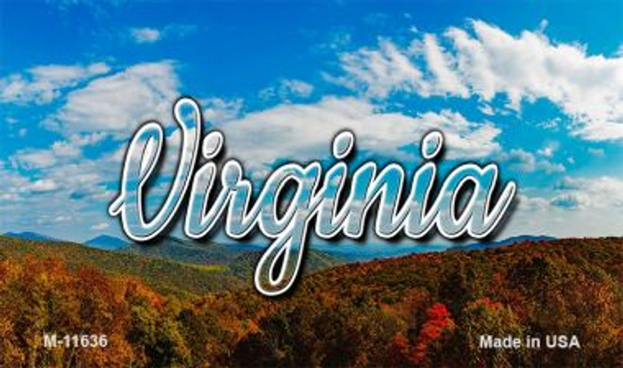 Virginia Mountain Range Magnet M-11636