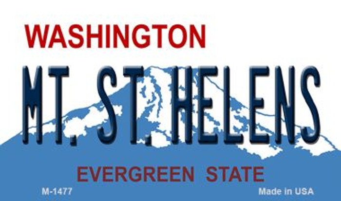 MT St Helens Washington State License Plate Magnet M-1477