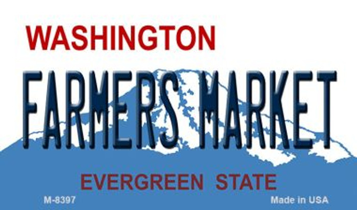 Farmers Market Washington State License Plate Magnet M-8397