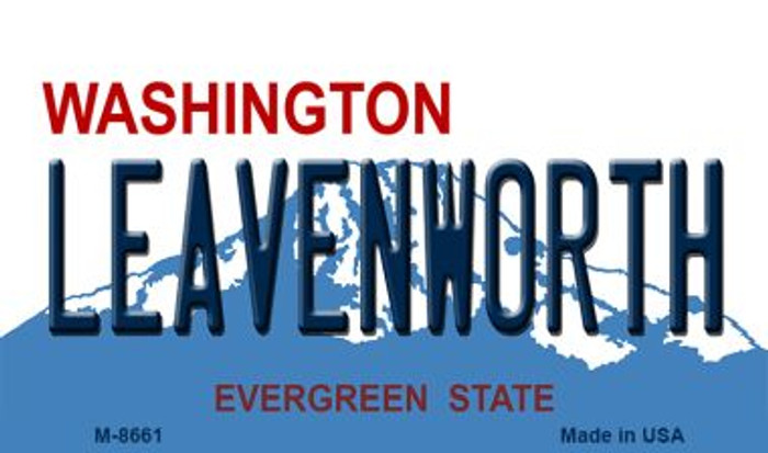 Leavenworth Washington State License Plate Magnet M-8661