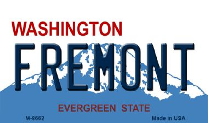 Fremont Washington State License Plate Magnet M-8662