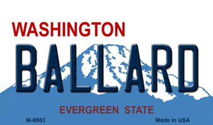 Ballard Washington State License Plate Magnet M-8663