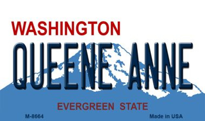 Quenne Anne Washington State License Plate Magnet M-8664