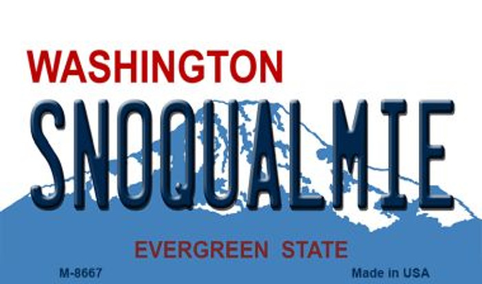 Snoqualmie Washington State License Plate Magnet M-8667