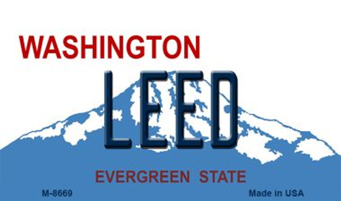 Leed Washington State License Plate Magnet M-8669