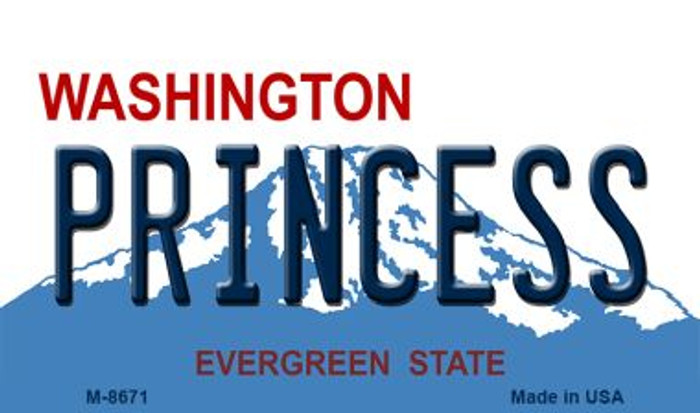 Princess Washington State License Plate Magnet M-8671