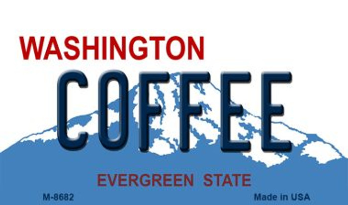 Coffee Washington State License Plate Magnet M-8682