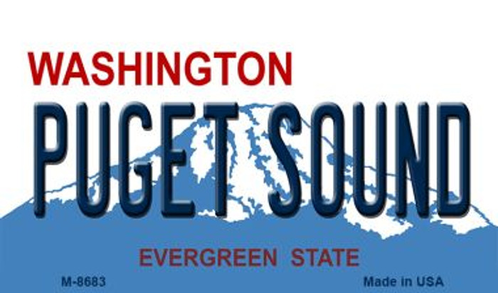 Puget Sound Washington State License Plate Magnet M-8683