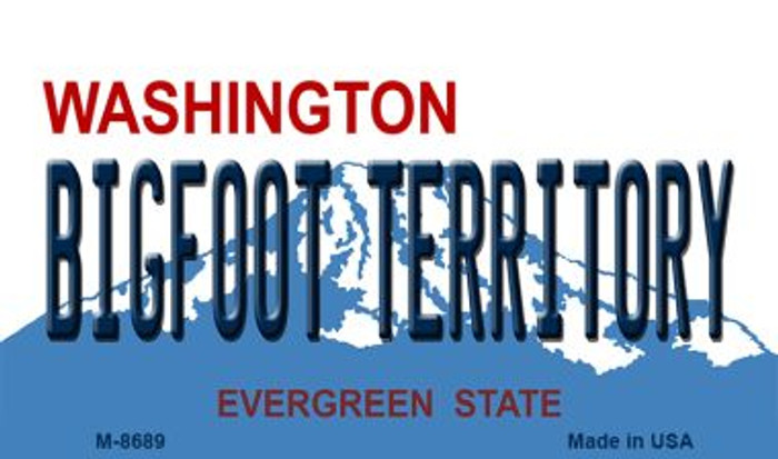 Bigfoot Territory Washington State License Plate Magnet M-8689