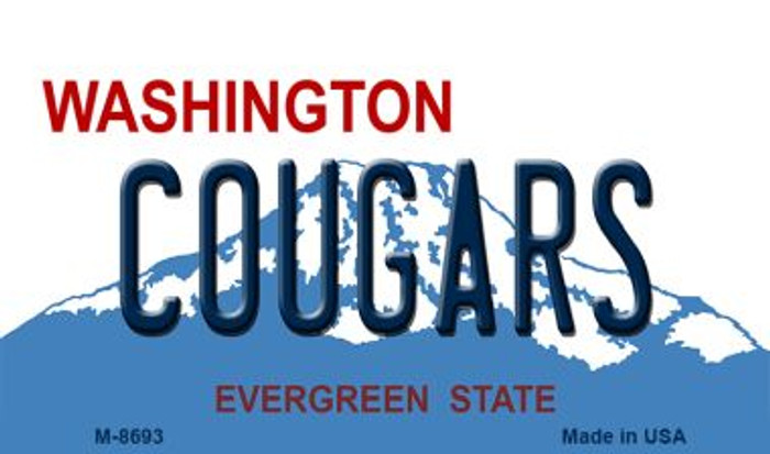 Cougars Washington State License Plate Magnet M-8693