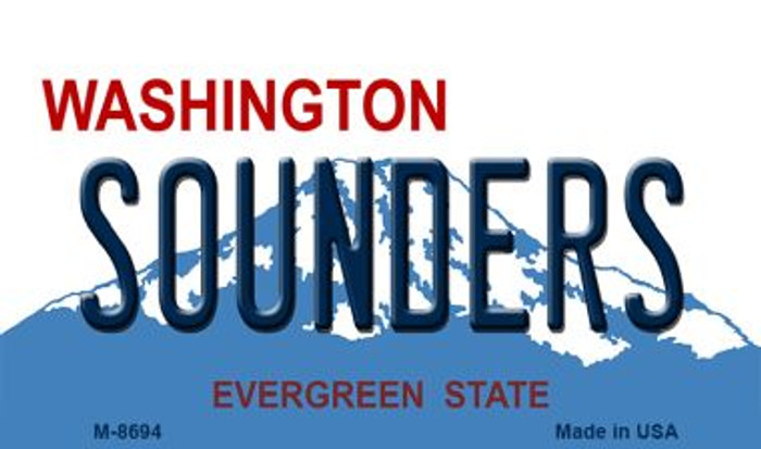 Sounders Washington State License Plate Magnet M-8694