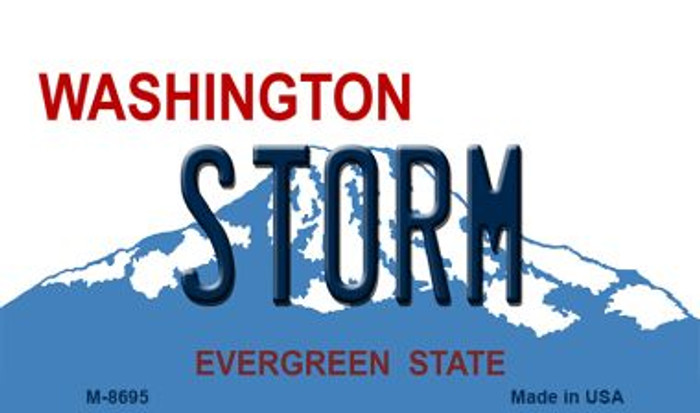 Storm Washington State License Plate Magnet M-8695