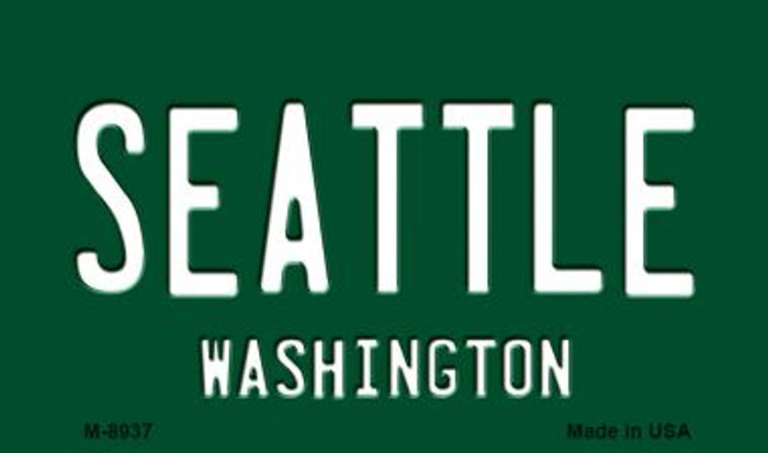 Seattle Vintage Washington State License Plate Magnet M-8937