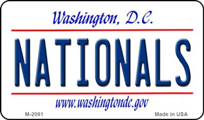 Nationals Washington DC State License Plate Magnet M-2091