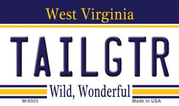 Tailgtr West Virginia State License Plate Magnet M-6505