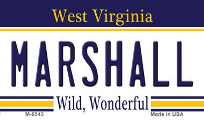 Marshall West Virginia State License Plate Magnet M-6543