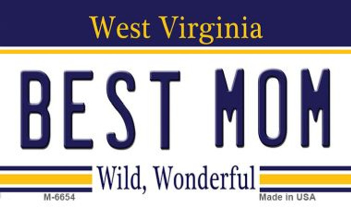 Best Mom West Virginia State License Plate Magnet M-6654