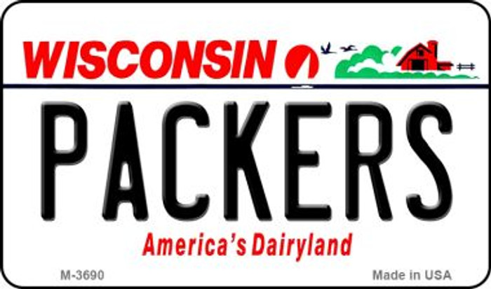 Packers Wisconsin State License Plate Magnet M-2064