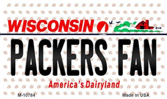 Packers Fan Wisconsin State License Plate Magnet M-10784
