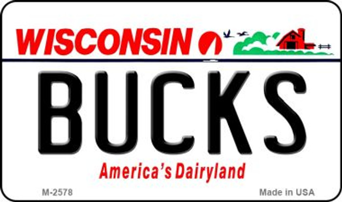 Bucks Wisconsin State License Plate Magnet M-2578