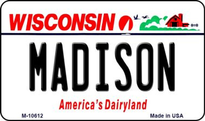 Madison Wisconsin State License Plate Novelty Magnet M-10612
