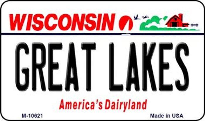 Great Lakes Wisconsin State License Plate Novelty Magnet M-10621