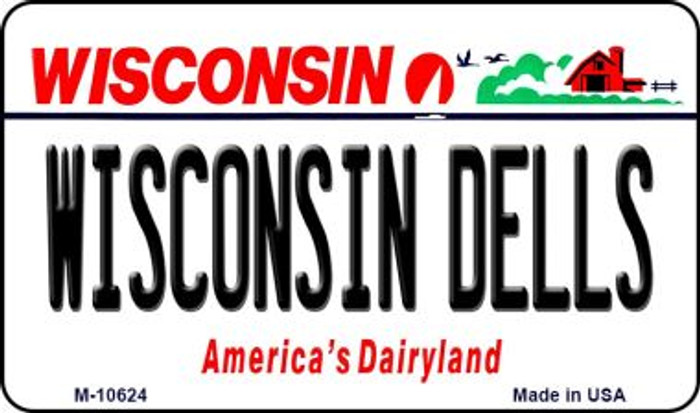 Wisconsin Dells State License Plate Novelty Magnet M-10624
