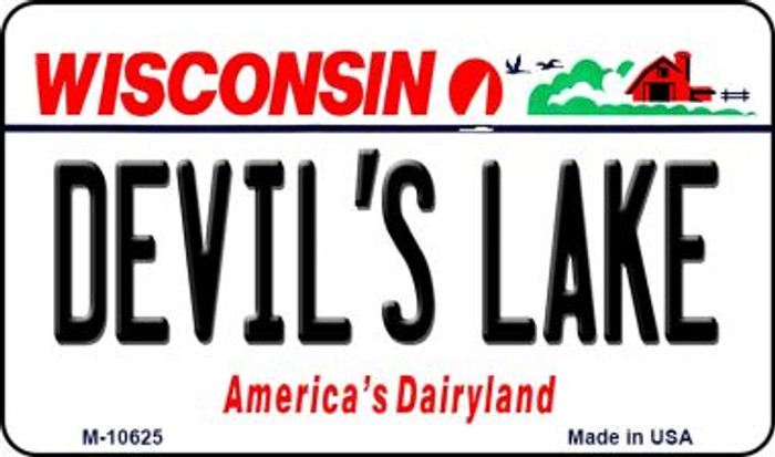 Devils Lake Wisconsin State License Plate Novelty Magnet M-10625