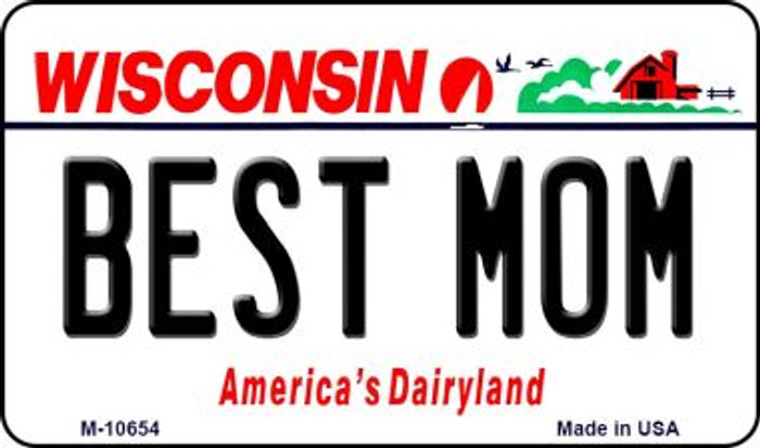 Best Mom Wisconsin State License Plate Novelty Magnet M-10654