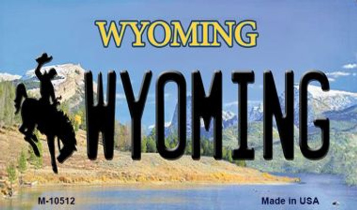 Wyoming State License Plate Magnet M-10512