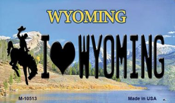 I Love Wyoming State License Plate Magnet M-10513