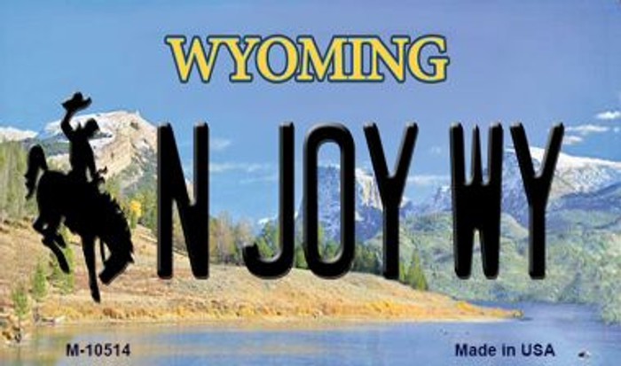 N Joy WY State License Plate Magnet M-10514