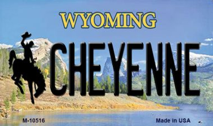 Cheyenne Wyoming State License Plate Magnet M-10516